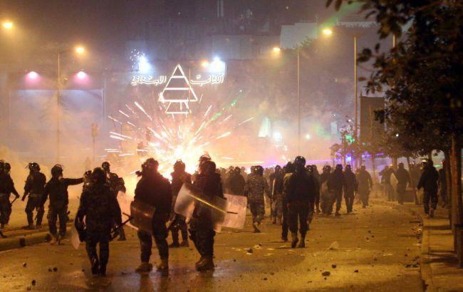 Протесты в Ливане фото