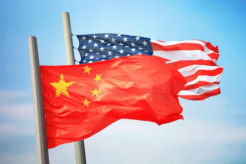 флаги сша и китая фото