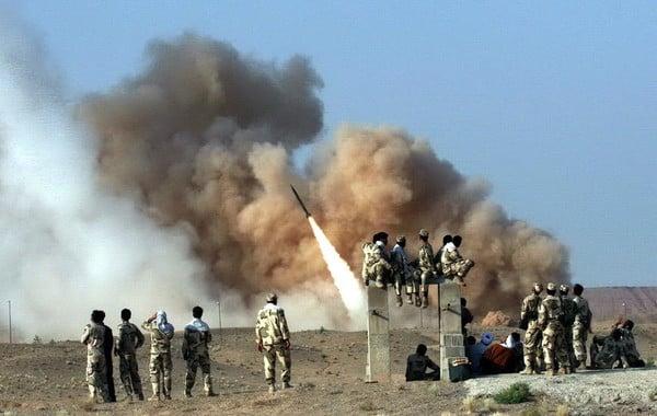 Иранская ракетная атака фоото