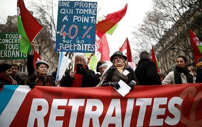 Протесты во Франции фото