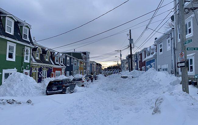снегопад в канаде фото