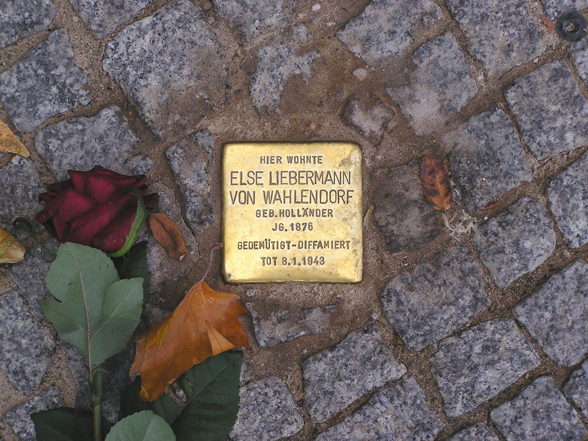 Stolperstein Else Liebermann von Wahlendorf Berlin Budapester Strasse