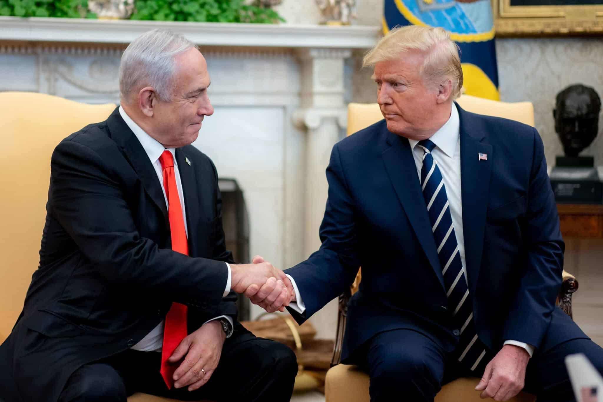 нетаниягу и трамп фото