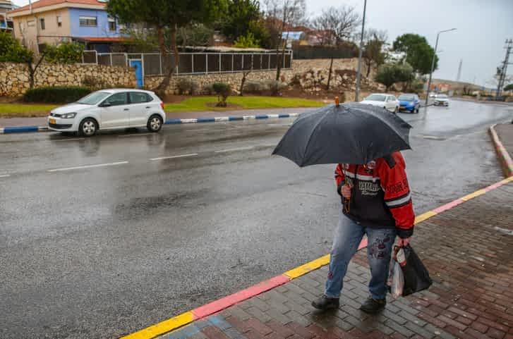 дождь в израиле фото