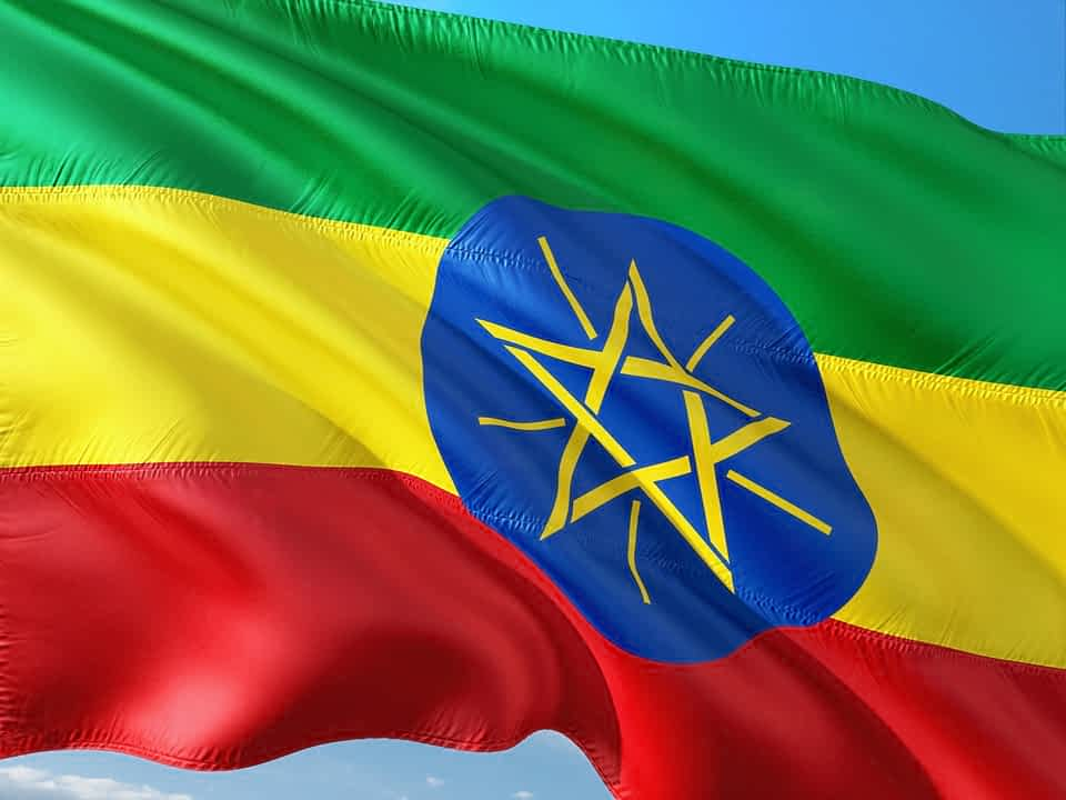 Флаг Эфиопии фото