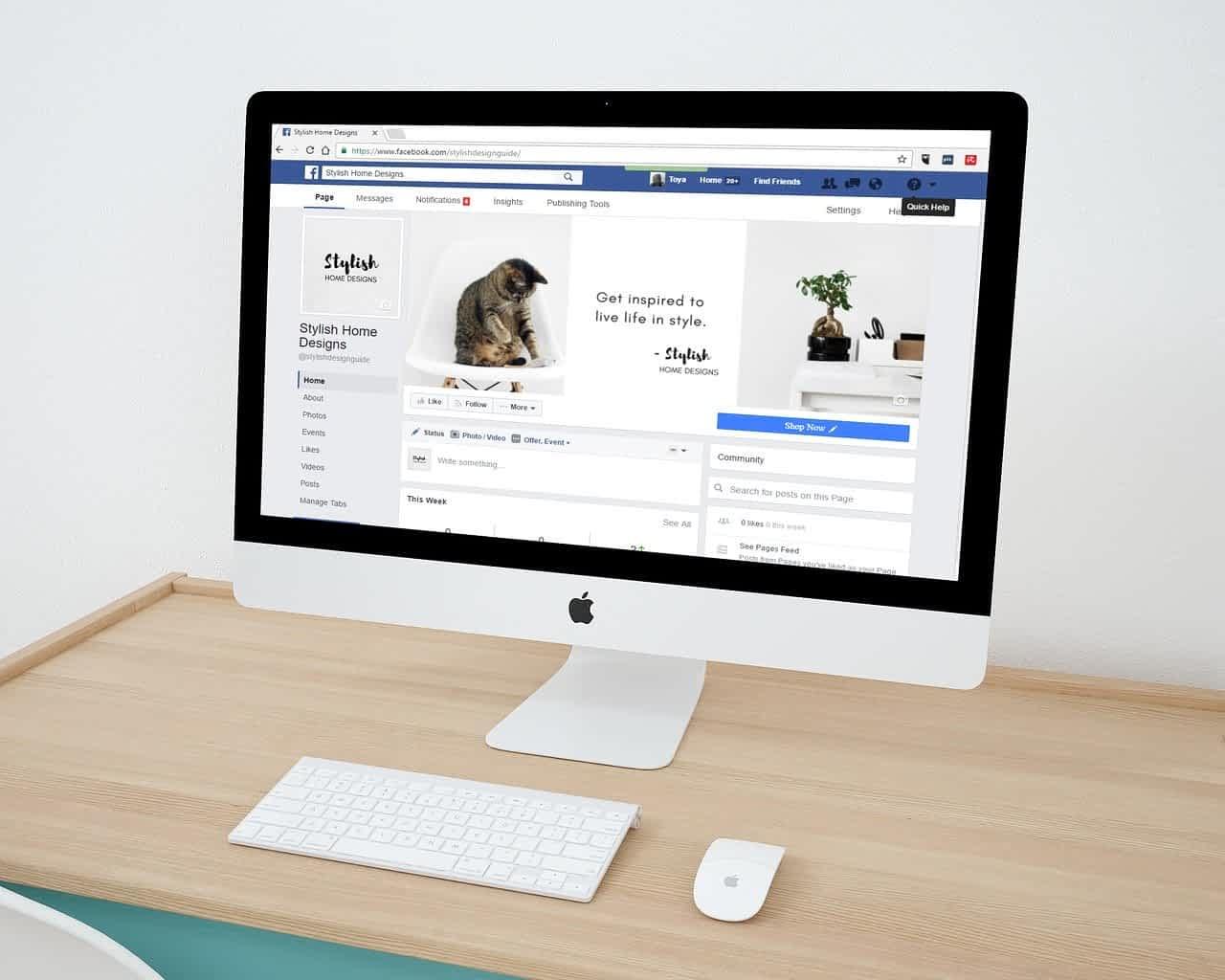 Facebook компьютер фото