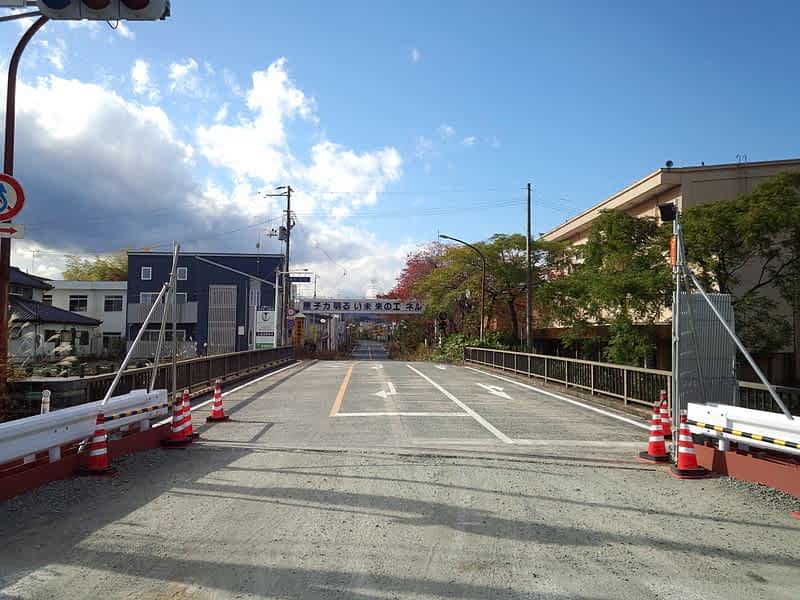Город Футаба в префектуре Фукусима фото