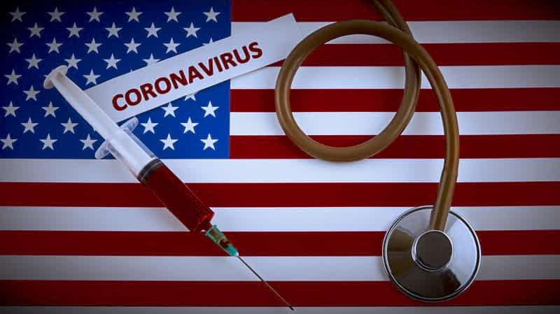 коронавирус флаг сша фото