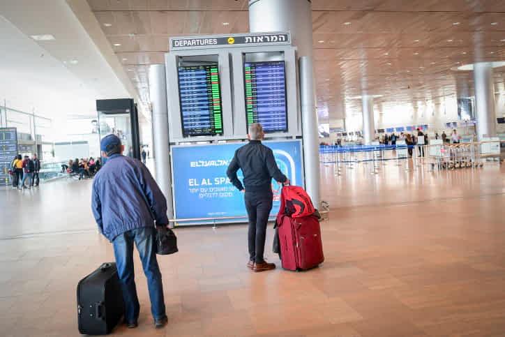 Пассажиры аэропорт Бен-Гурион фото