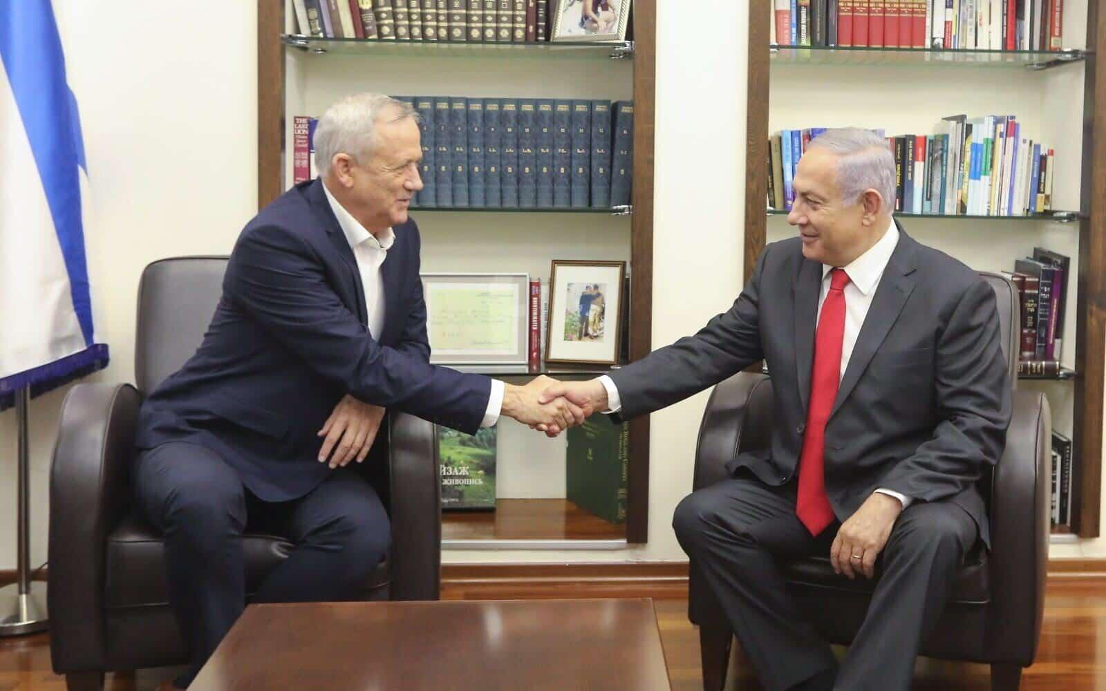 Нетаниягу уговаривает Ганца сохранить правительство