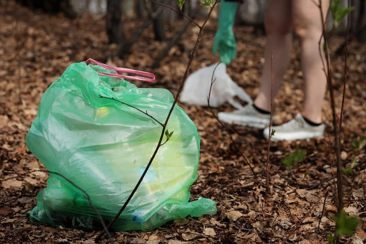 сбор пластикового мусора фото