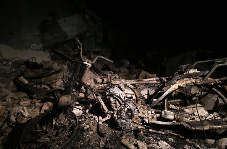 Авиаудар по Сирии фото