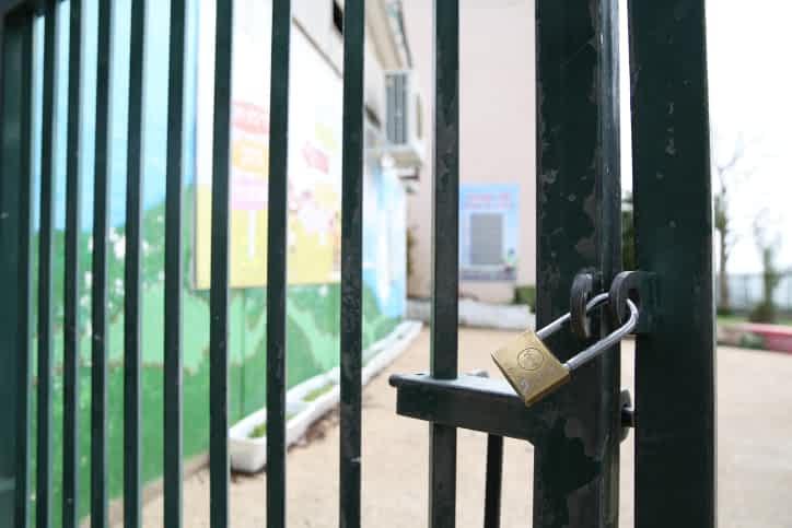 Школа, закрытая на карантин фото