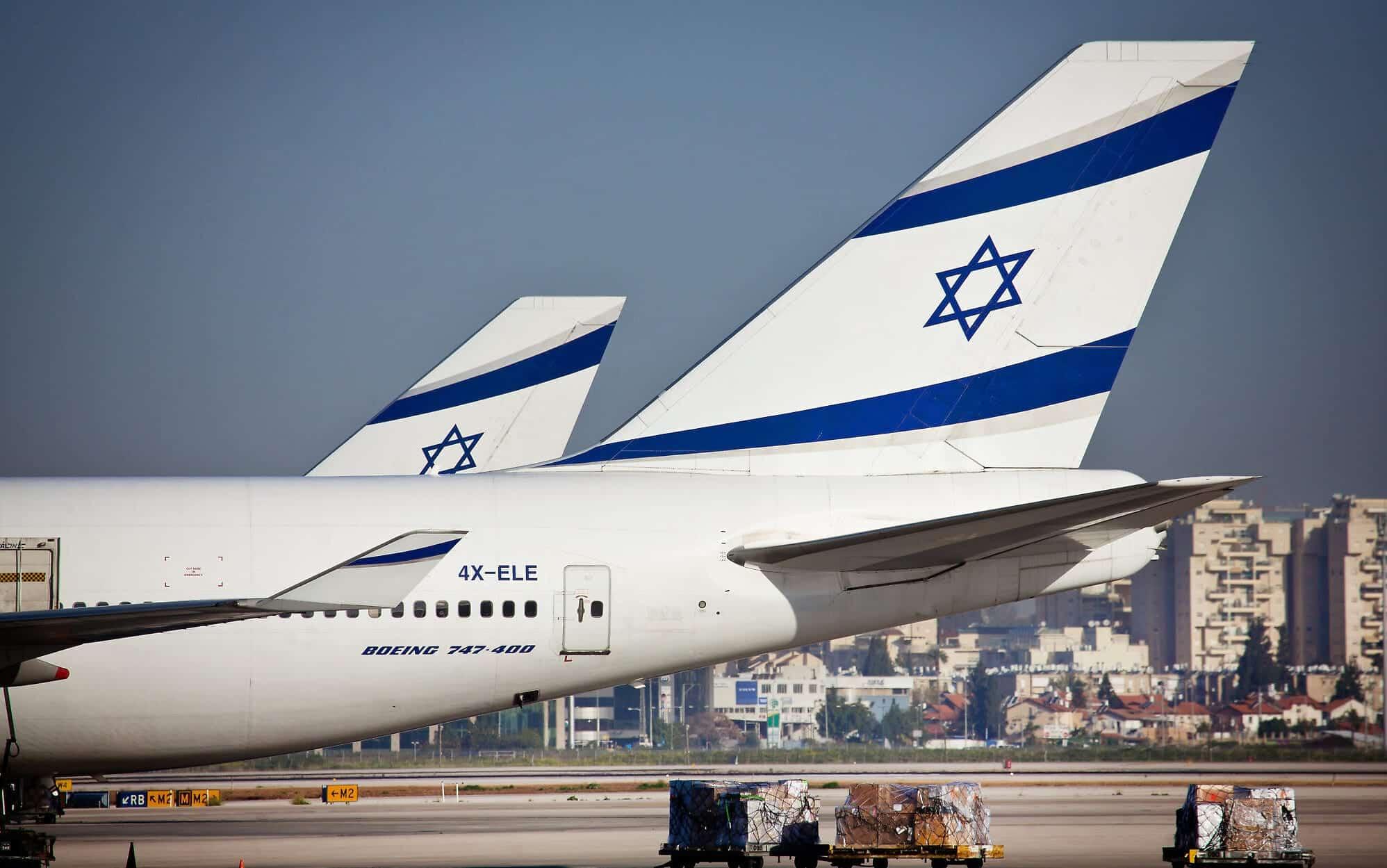 Самолеты компании Эль Аль в аэропорту Бен-Гурион фото