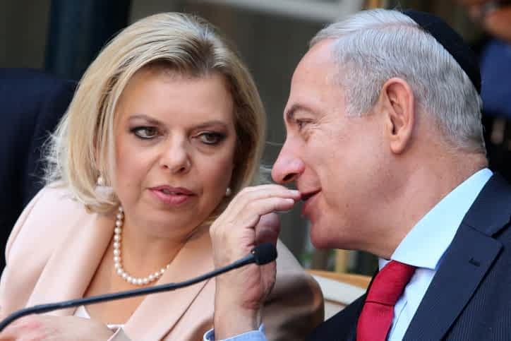 Сара Нетаниягу с мужем фото