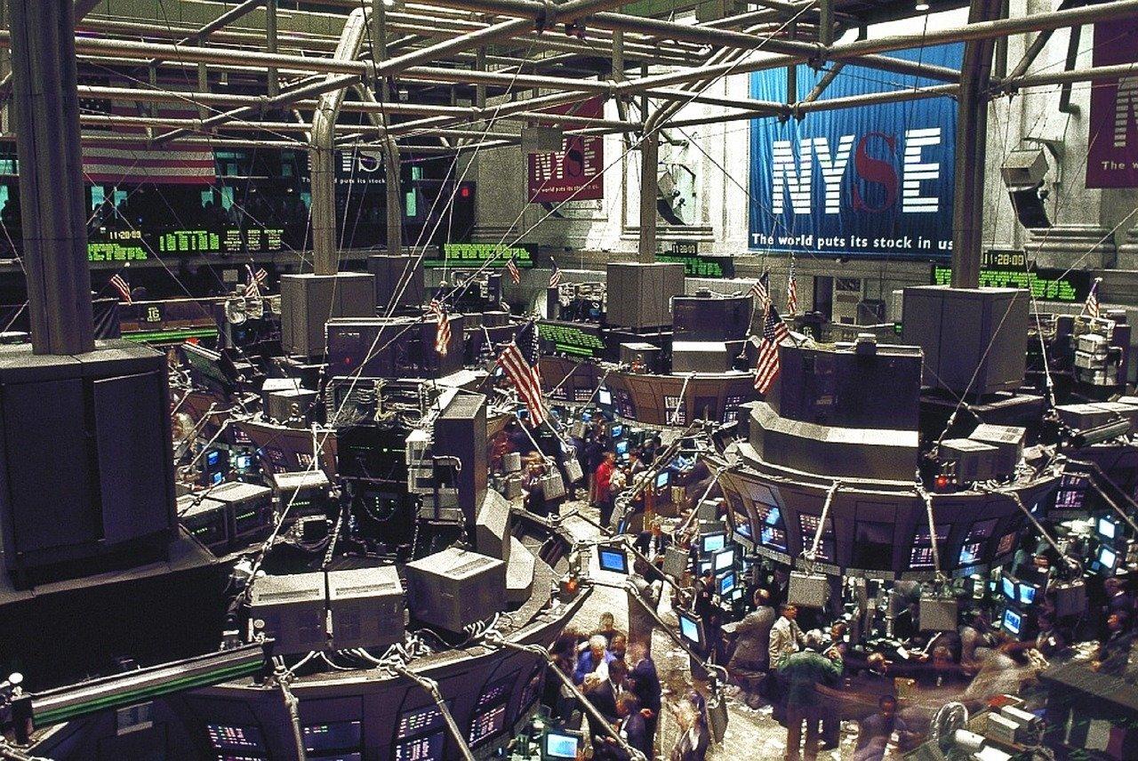 Фондовая биржа зал иллюстрация