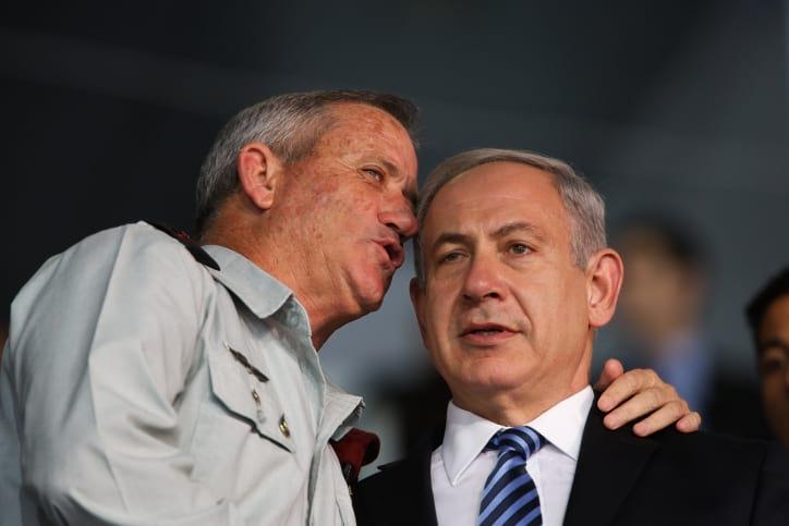 биньямин нетаниягу бенни ганц израиль фото
