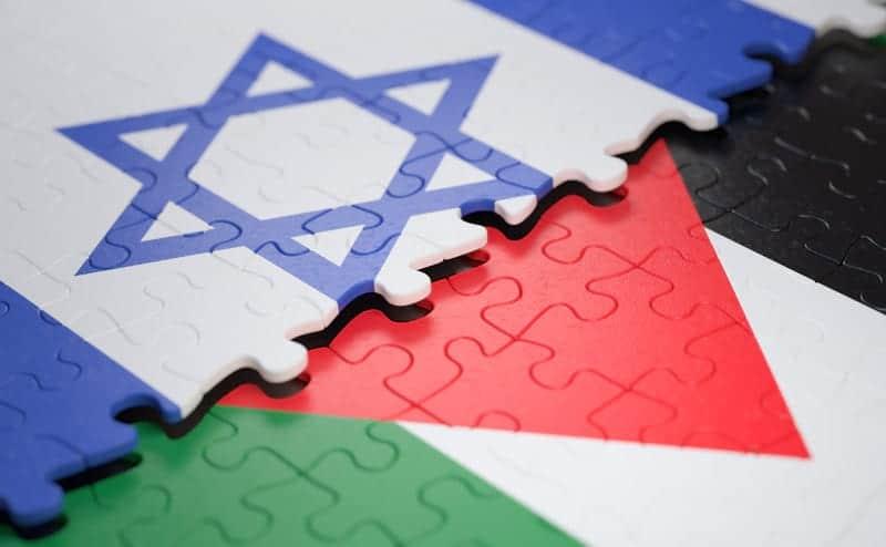 Флаги Израиль и Палестина изображение