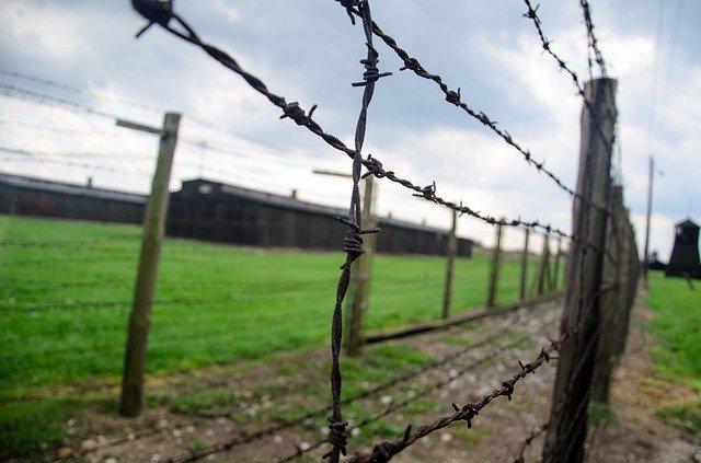 Холокост колючая проволока концлагерь изображение