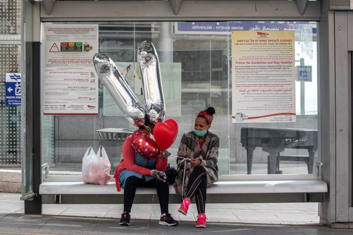 остановка общественный транспорт израиль фото