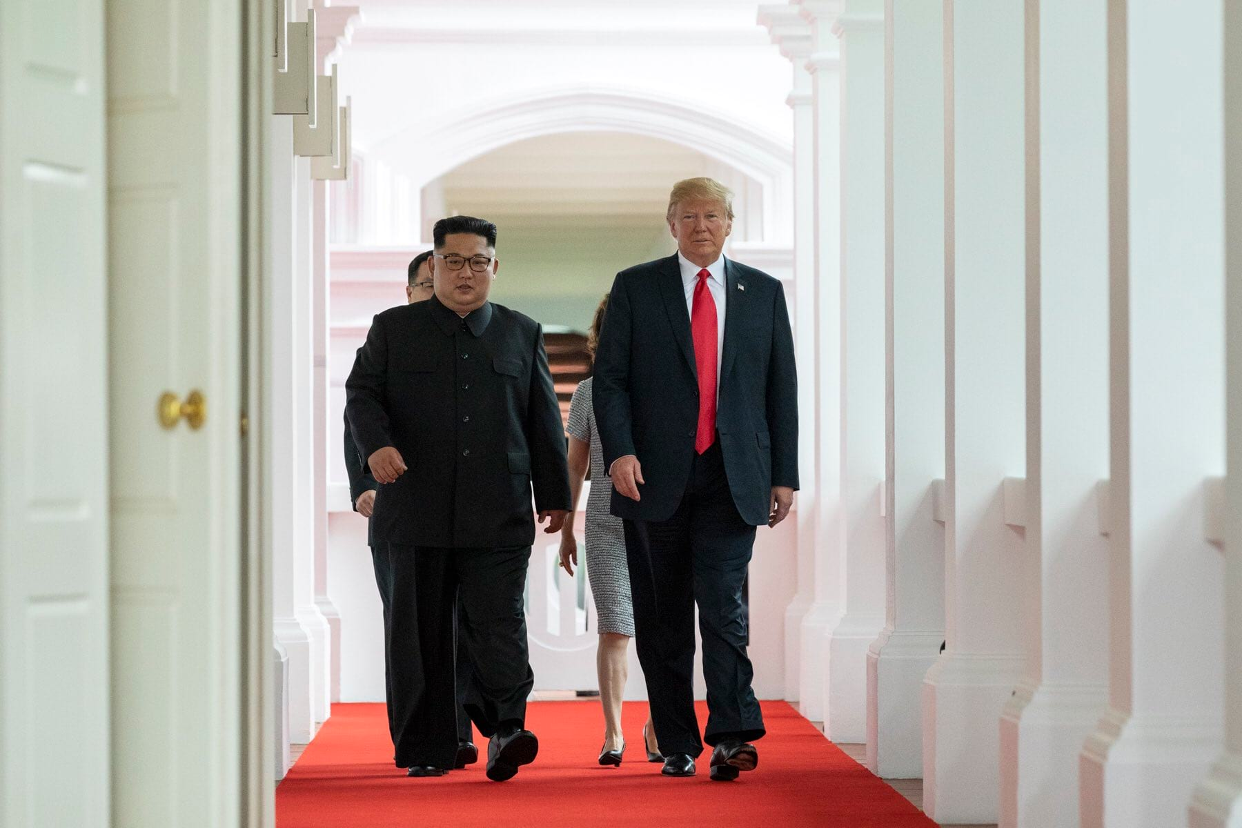 Ким Чен Ын и Трамп фото