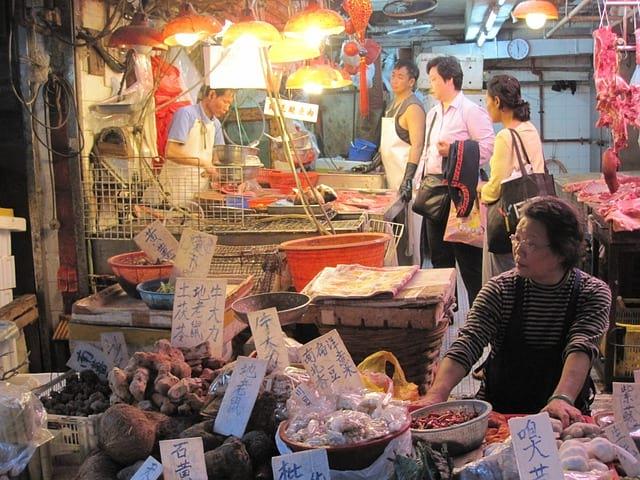 рынок в китае фото