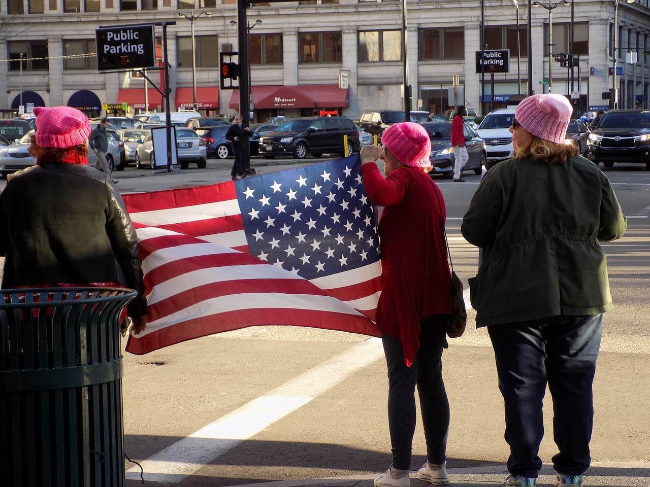 Митинг в США фото