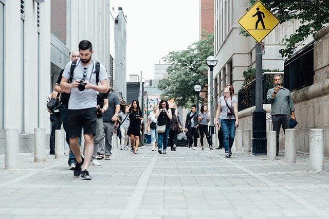 Оживленная улица фото