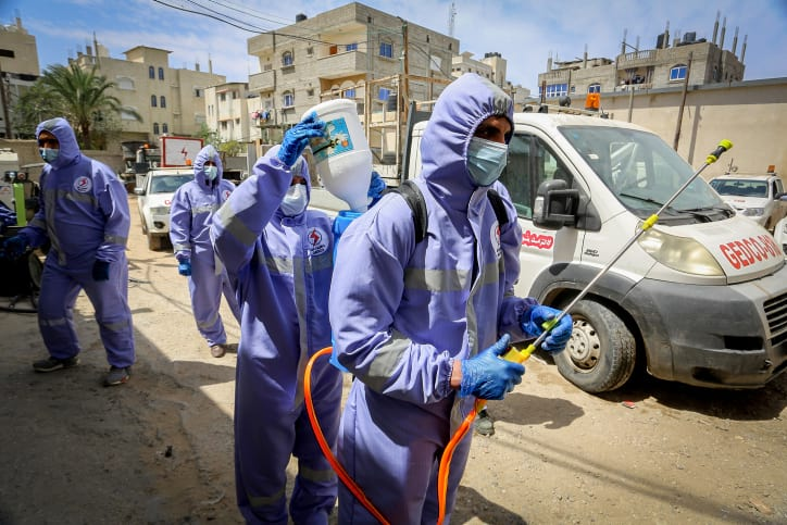 эпидемия covid-19 палестина фото