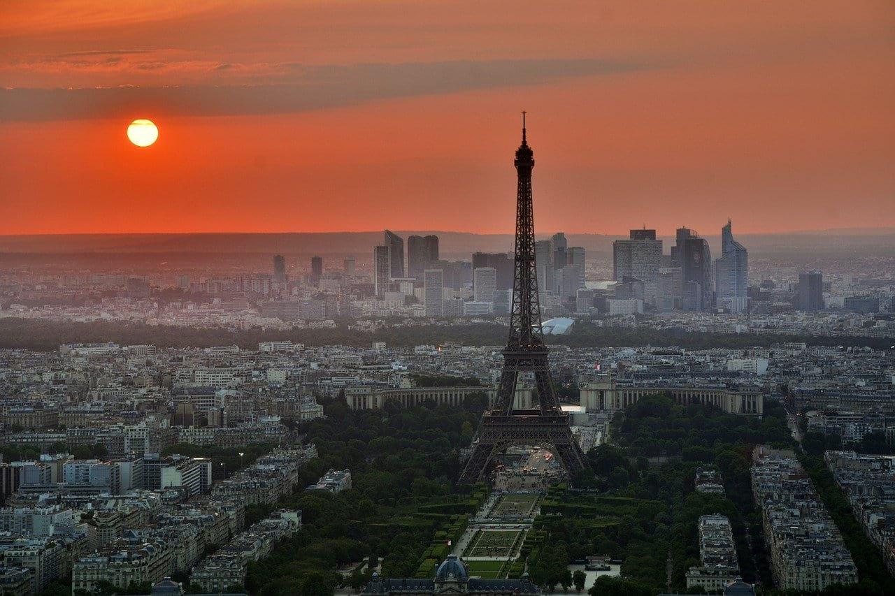 Париж Франция Эйфелева башня фото