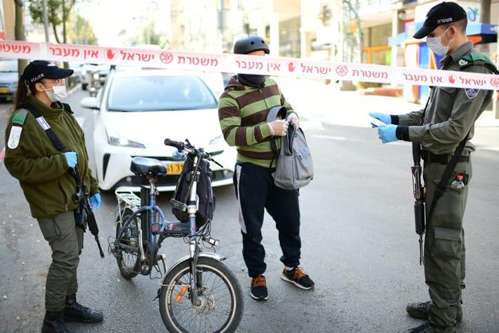 Politsiya kontroliruet soblyudenie karantina v Bnej Brake