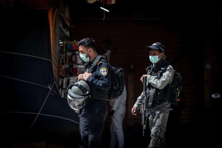 полиция израиль карантин фото
