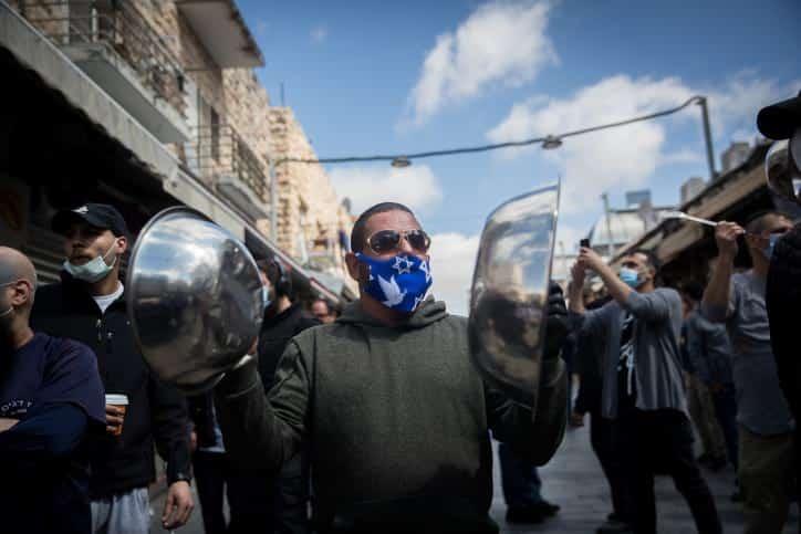 Protest predprinimatelej rynka Mahan Ieguda