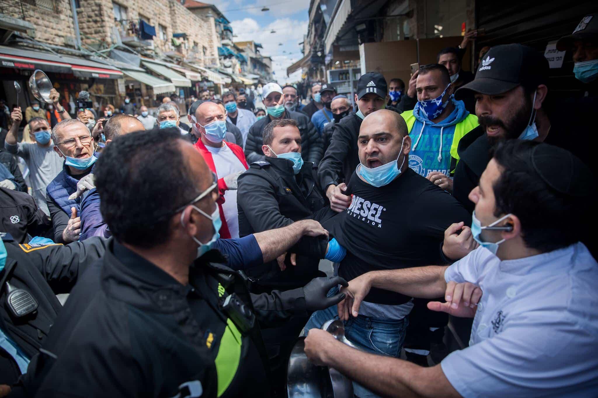 протесты торговецв, израиль фото