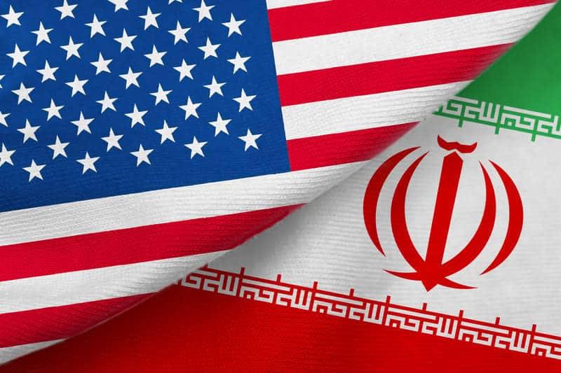 Флаги США и Ирана картинка