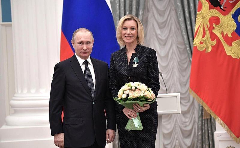 Vladimir Putin i Mariya Zaharova