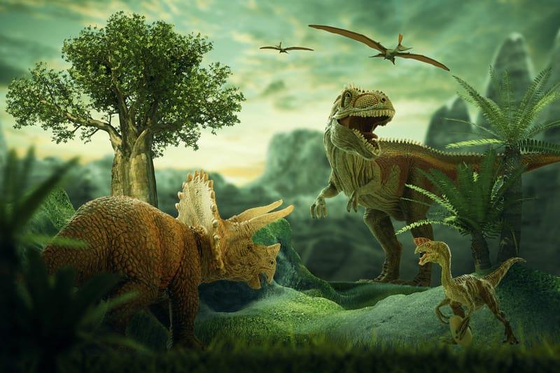 Динозавры несколько картинка