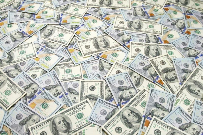 купюры доллары картинка