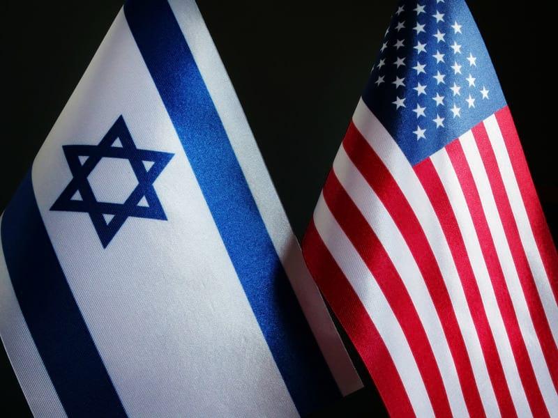 Флаги Израиля и США фото