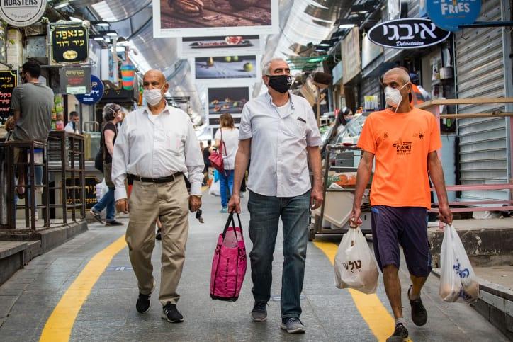 израильтяне рынок карантин фото