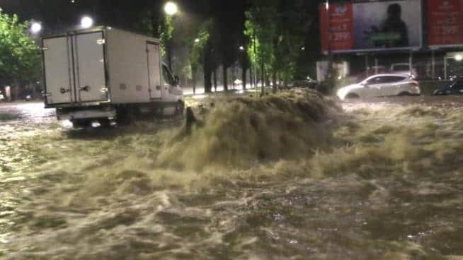 Наводнение в Милане фото