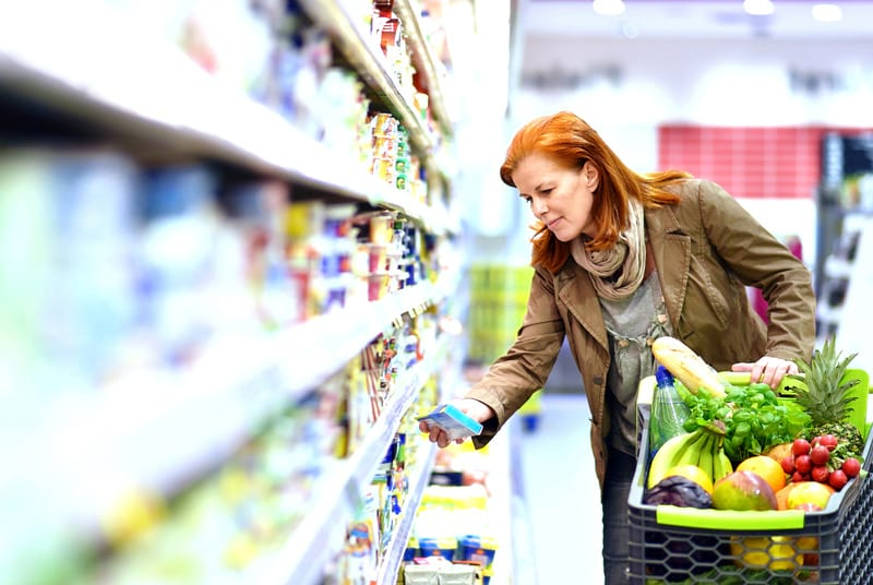 женщина магазин продукты картинка