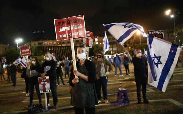 Protest protiv koalitsionnogo pravitelstva vo glave s Netaniyagu 2