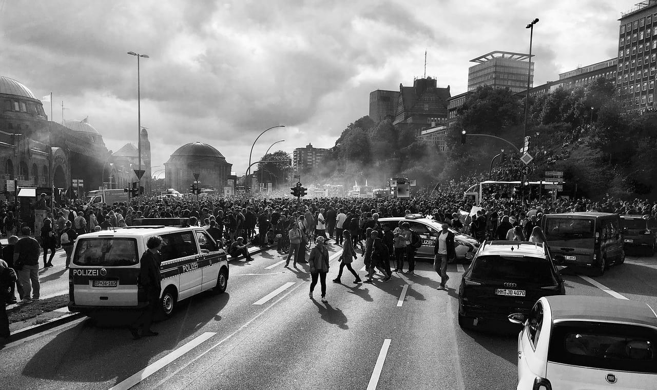Протесты в Германии фото