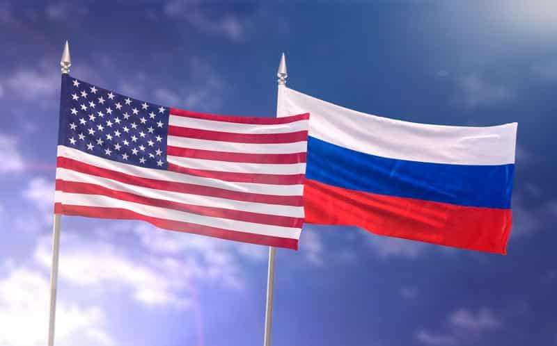 США Россия флаги изображение