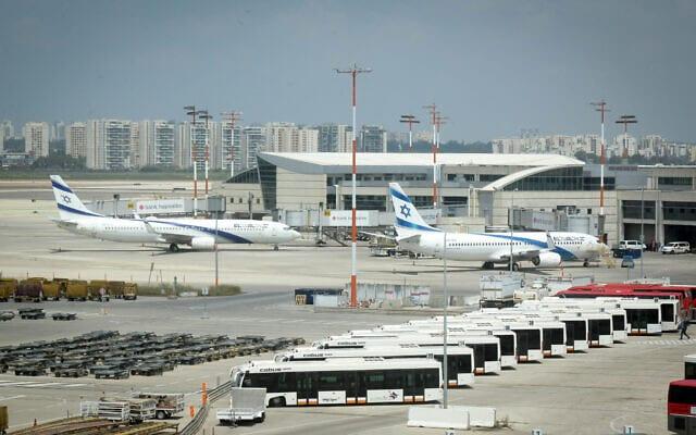 Samolety aviakompanii El Al v aeroportu Ben Gurion