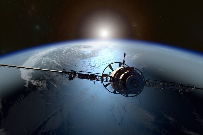 спутник орбита земли изображение