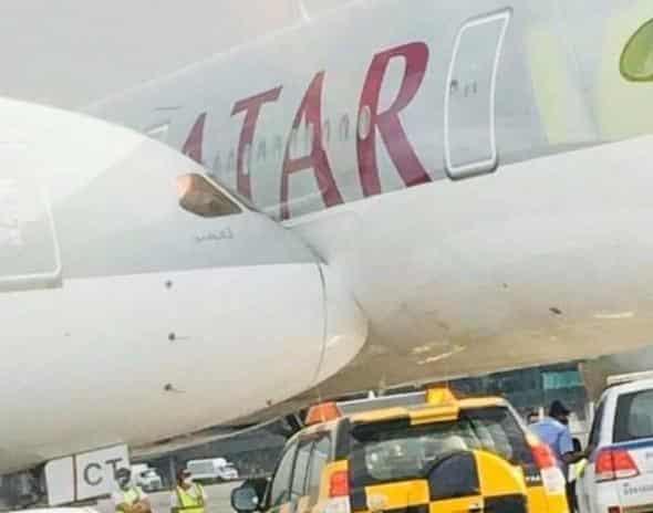 Stolknovenie samoletov v aeroportu Dohi