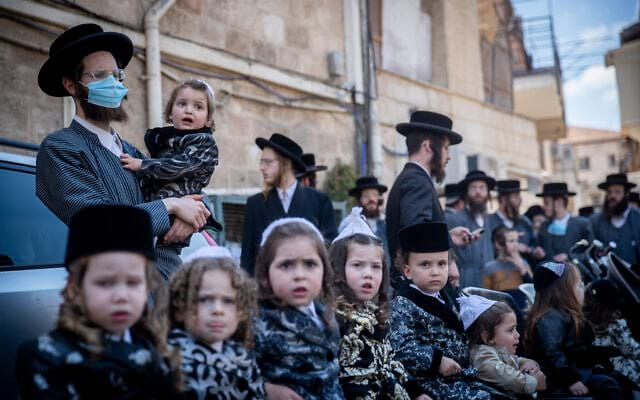 Ultraortodoksy privlekli malenkih detej k protestu v Ierusalime 3