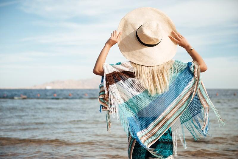 женщина море фото